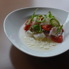 Gilt head bream ceviche